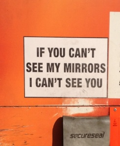 Mirrors sign