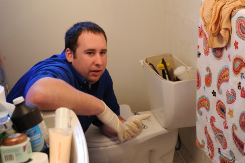 Not our plumber. Not our toilet.